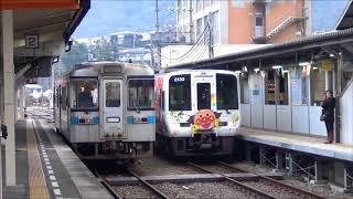 阿波池田駅 特急南風6号2000系アンパンマン列車発着 2018.1.6