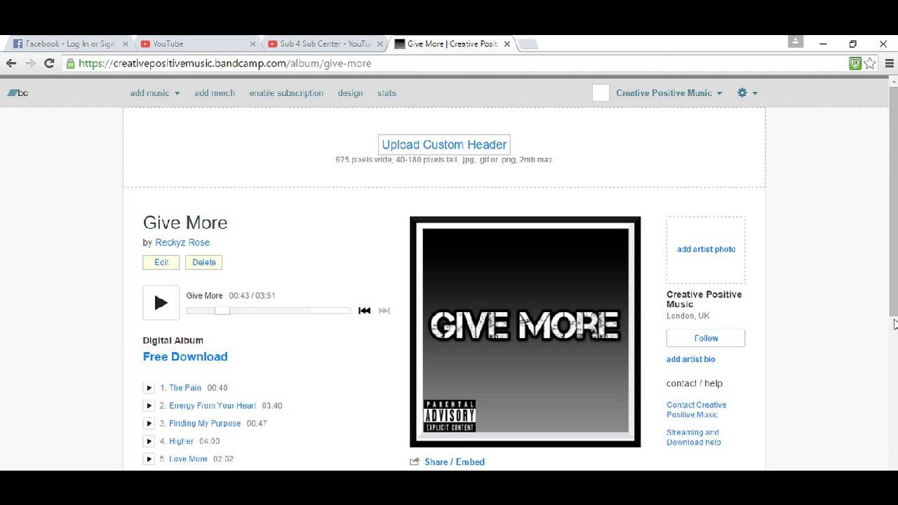 Free Download Give More @Bandcamp