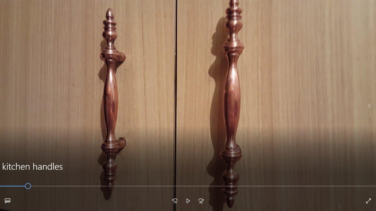 easy way to clean kitchen cabinet door handles