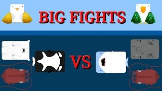 Deeeep.io Last animals vs last animals || Big fights