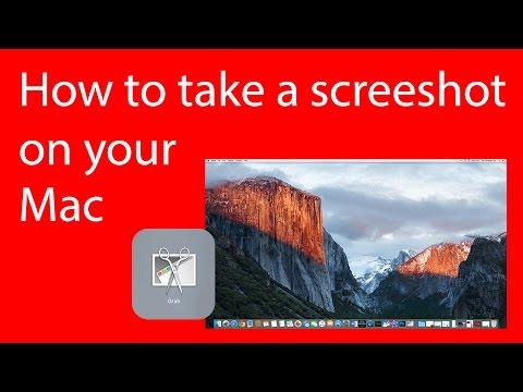 How to take a screen shot, screen grab on Apple iMac, Mac.