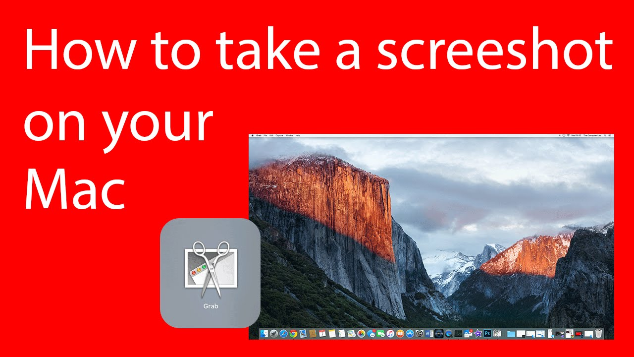 how to get a screen grab on a mac