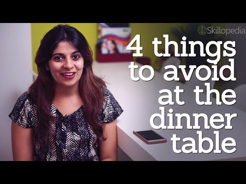 Dining etiquette rules - 4 things to avoid at the dinner table - personality development video