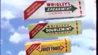 Реклама Wrigley's Spearmint, Doublemint, Juicy Fruit (1996 год)