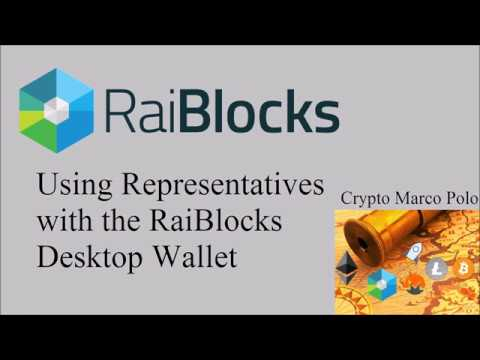 How to Use Representatives with Nano RaiBlocks Desktop Wallet