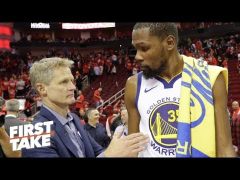 Stephen A.: Kevin Durant was not feeling Steve Kerr at all | First Take