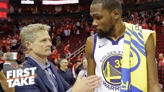 Stephen A.: Kevin Durant 'was not feeling Steve Kerr - at all' | First Take