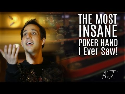 The Most Insane Poker Hand Ever! (Crazy Poker Hands)