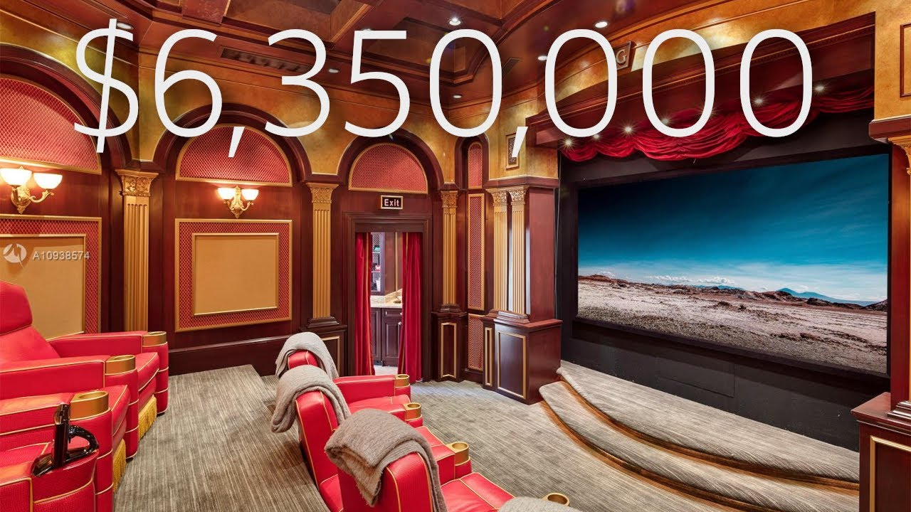 THIS $6,350,000 MIAMI MANSION HAS ITS OWN PRIVATE THEATRE!