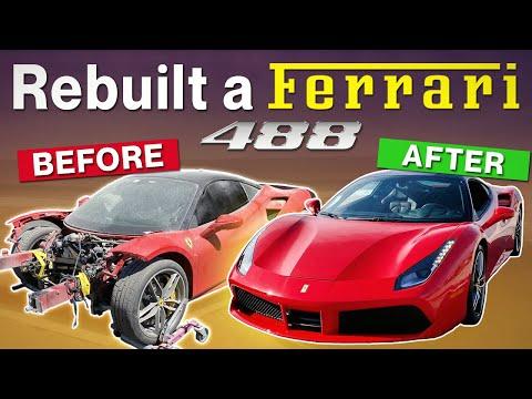 REBUILDING CRASHED FERRARI 488 IN 20 MINUTES