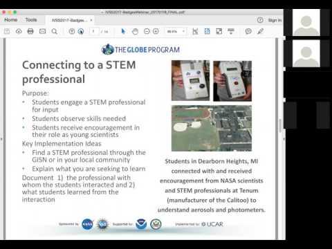 Badges Informational Webinar (GLOBE International Virtual Science Symposium)