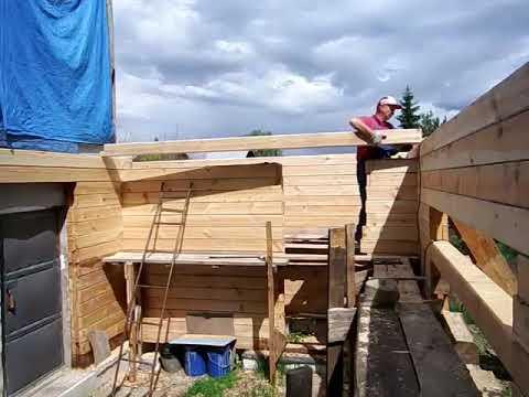 Как строить дом из бруса в одиночку