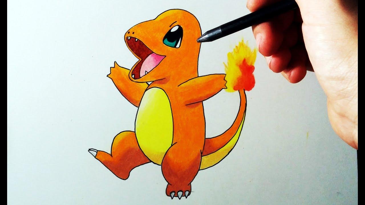 Dibujos Para Colorear De Charmander: Aprende A Dibujar A Charmander Paso Por Paso