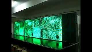 Электронное светодиодное табло зелёного цвета с фото. Фабрика Диодов(Новое табло бегущая строка позволяет добавлять в дополнение к информации фото и видео. Послужит прекрасным..., 2015-04-24T07:49:09.000Z)