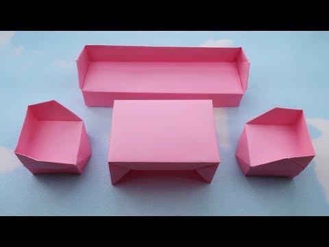 How to make Origami Sofa Set ? Origami Sofa