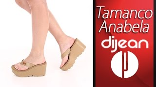 Tamanco Anabela Feminina Dijean - 6000550904