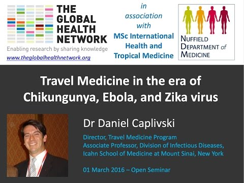 Travel Medicine in the era of Chikungunya, Ebola, and Zika virus