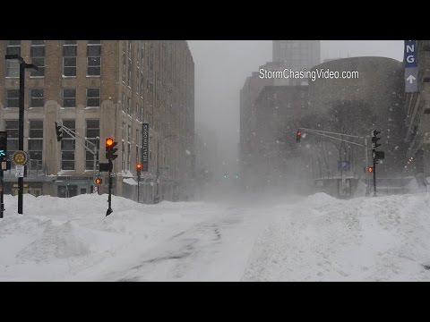 1/27/2015 Boston, MA Morning Blizzard  & Heavy Snow B-Roll