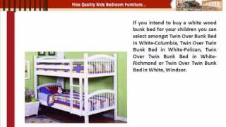 White Wood Bunk Bed