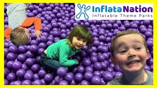 Super Fun HUGE Indoor Inflatable Playground for Kids - With Bounce House, Balls and Giant Slides!