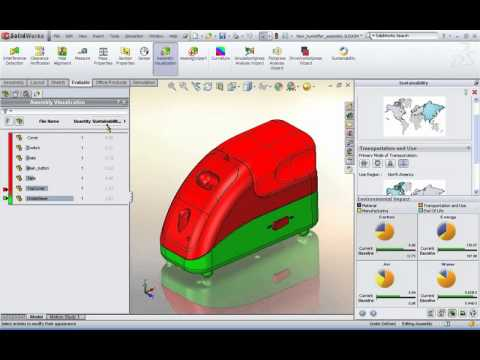 Eliminate negative environmental impact of your designs with SolidWorks Sustainability