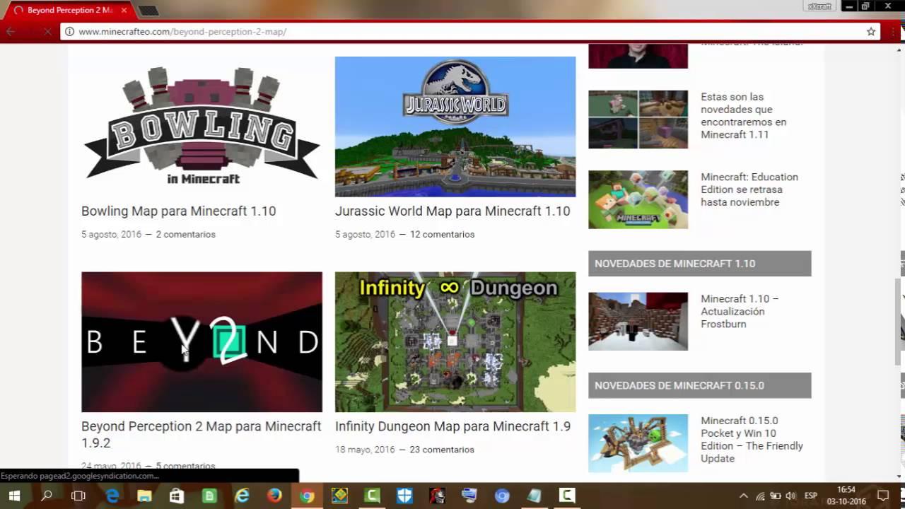 Como Descargar Mapas Para Minecraft O Cualquier Version YouTube - Bowling map para minecraft 1 10
