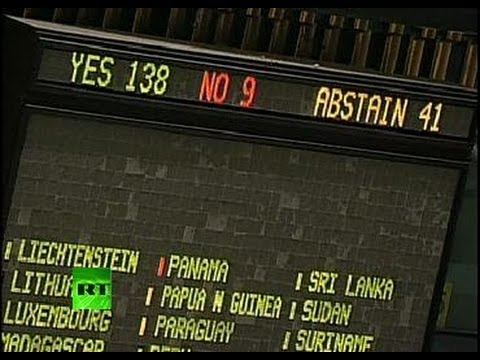 Video: UNGA votes to recognize Palestinian statehood