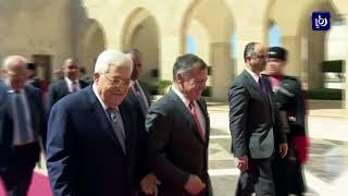 جلالة الملك يبحث مع الرئيس الفلسطيني آخر المستجدات على صعيد القضية الفلسطينية - (12-3-2018)