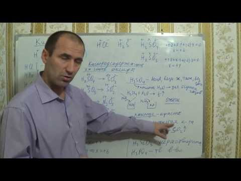 Видеоуроки по химии. §20, 8кл. Кислоты