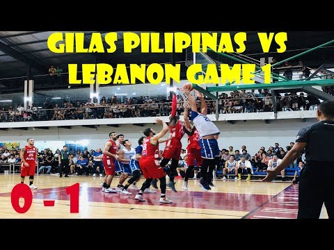 GILAS PILIPINAS vs LEBANON game 1 full game | Highlights | November 23, 2018