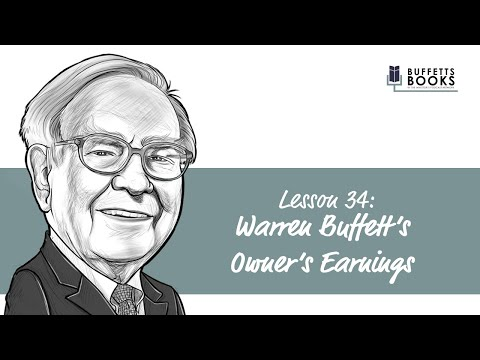 34. Warren Bufett's Owner's Earnings Calculation