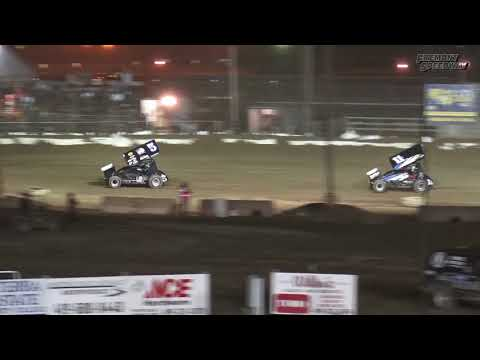 Fremont Speedway Jim Ford Classic 410 Sprint Car Feature Highlights - 9/16/17