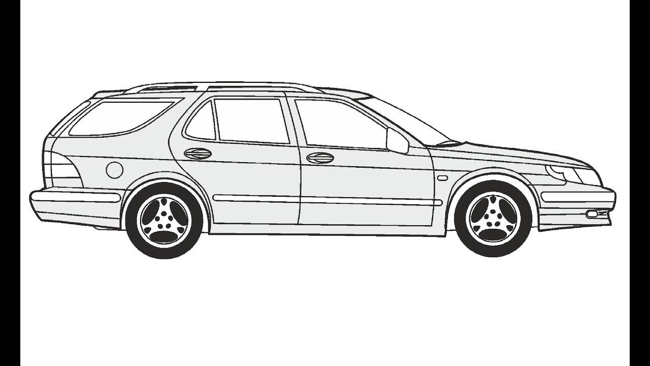How To Draw A Saab 9 5 Kombi Saab 9 5 Kombi