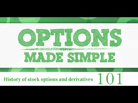 History of stock options and derivatives