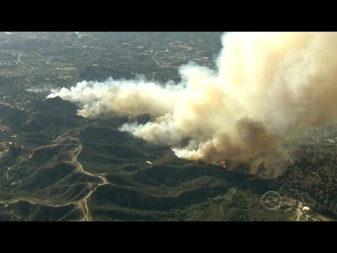 Six large wildfires are burning in California
