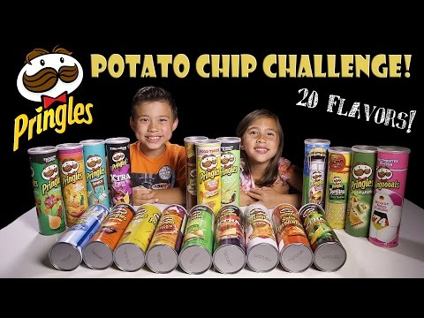 PRINGLES CHALLENGE! 20 Flavors! Extreme Potato Chip Tasting Contest!