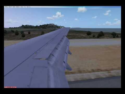 KLM 737 landing at ibiza's intl airport