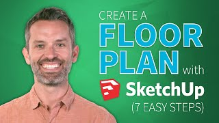 Sketchup Interior Design Tutorial — How To Create A Floor Plan  In 7 Easy Steps