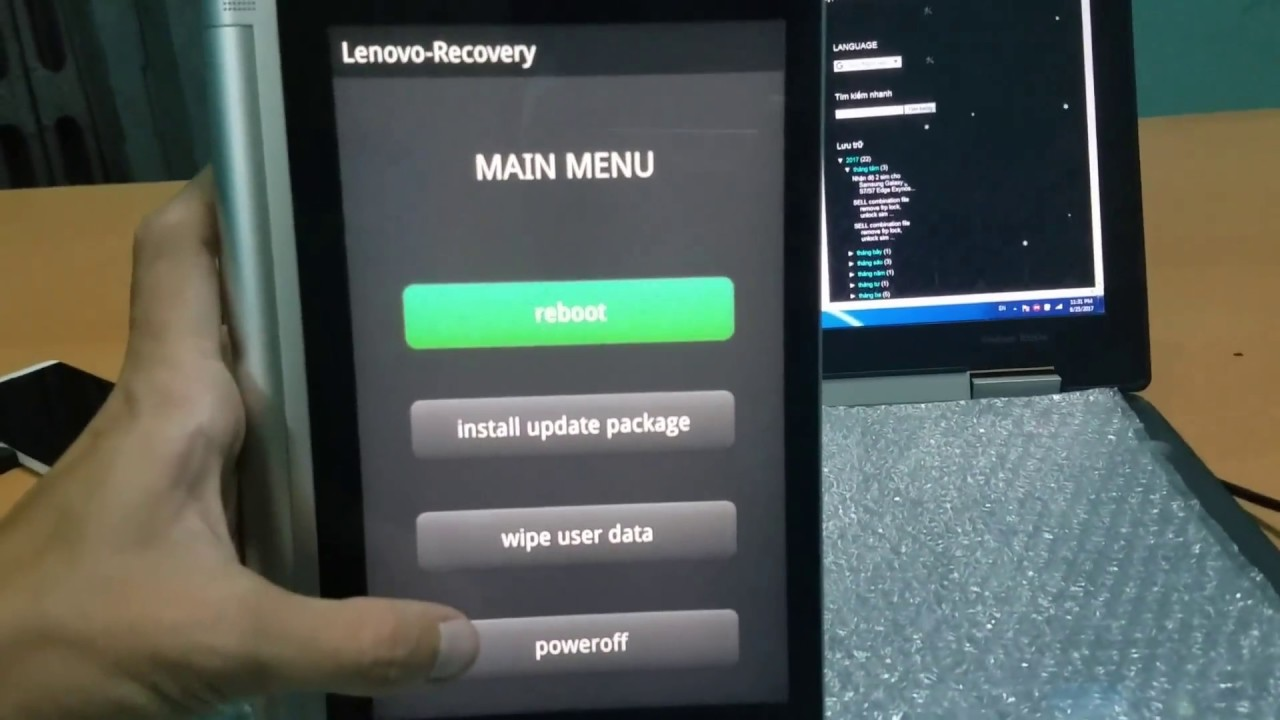How to boot in to DroidBoot,Recovery,Fastboot mode Lenovo Yoga Tablet 2 830F