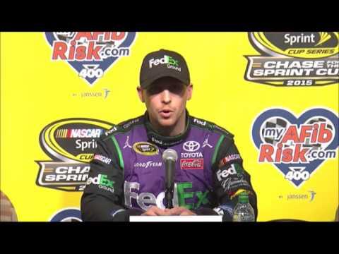 JG, Dave Rogers, Denny Hamlin CS Post Race Winners Interview