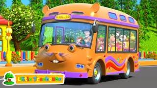 Ruedas en el bus | Poemas para niños | Dibujos animados educativos | Videos preescolares