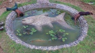 Build Stone Fish Pond Part 2