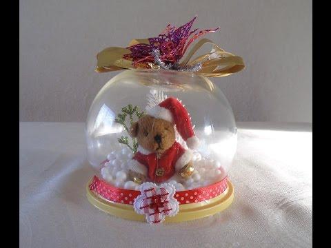 C mo hacer burbujas de navidad adornos navide os youtube - Adornos de mesa navidenos ...