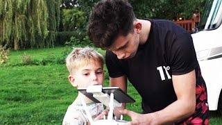 Flying the DJI Inspire 1 With My Little Brother!