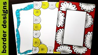 Flower | Border designs on paper | border designs | project work designs | borders for projects