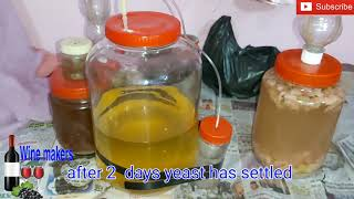 Tomato Wine make at home part 2 filtration decantation and Bottling full process