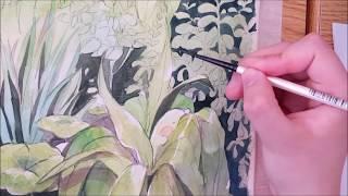 """[Original] """"Gardener"""" Watercolor Speedpaint"""