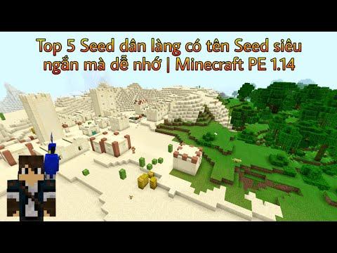 Top 5 Seed dân làng có tên Seed siêu ngắn mà dễ nhớ | Minecraft PE 1.14
