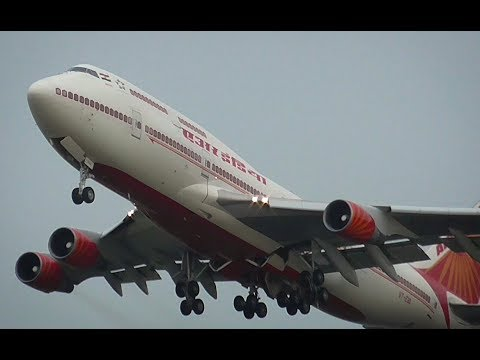 Indian Government B747│Air India One │ take off from Amsterdam Airport Schiphol
