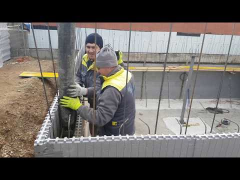 StyroStone ICF concrete pour Zaragoza/Spain. Part 1